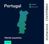 stylized map of portugal in... | Shutterstock .eps vector #1565098864