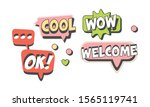 speech labels with text vector...   Shutterstock .eps vector #1565119741