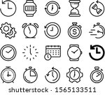 clock vector icon set such as ... | Shutterstock .eps vector #1565133511