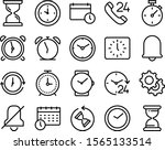 clock vector icon set such as ... | Shutterstock .eps vector #1565133514