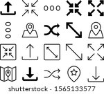 navigation vector icon set such ...