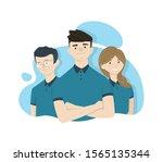 vector characters in uniform... | Shutterstock .eps vector #1565135344