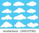 white clouds on a blue... | Shutterstock .eps vector #1565157301