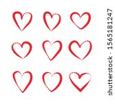 red heart hand drawn icons... | Shutterstock .eps vector #1565181247