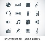 vector black  music icons set   Shutterstock .eps vector #156518891