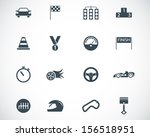 vector black  racing icons set | Shutterstock .eps vector #156518951