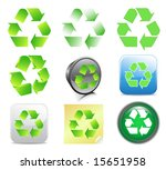 recycle icons | Shutterstock .eps vector #15651958