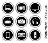 electronics icons silver icon...   Shutterstock .eps vector #156519881
