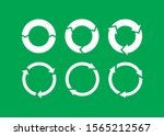 vector garbage recycling... | Shutterstock .eps vector #1565212567