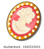 vintage jeweled brooch with the ... | Shutterstock .eps vector #1565215411