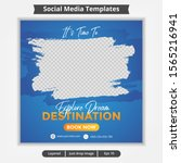 abstract template post for... | Shutterstock .eps vector #1565216941