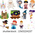 set of isolated objects theme... | Shutterstock .eps vector #1565224237