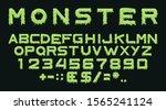 monster type. vector spooky... | Shutterstock .eps vector #1565241124