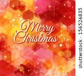 merry christmas card. bright... | Shutterstock .eps vector #156526835