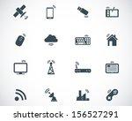 vector black wireless icons set | Shutterstock .eps vector #156527291