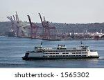 washington state ferry crossing ... | Shutterstock . vector #1565302