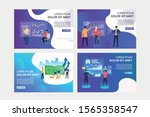 virtual reality reports set.... | Shutterstock .eps vector #1565358547