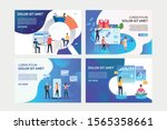 set of illustrations with... | Shutterstock .eps vector #1565358661