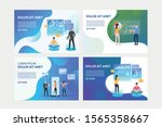 set of illustrations with... | Shutterstock .eps vector #1565358667