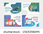 set of illustrations with... | Shutterstock .eps vector #1565358694
