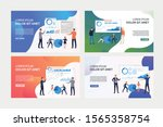 pack of images with people... | Shutterstock .eps vector #1565358754