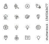 idea for startup line icon set. ... | Shutterstock .eps vector #1565363677