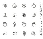 fruit line icon set. lemon ... | Shutterstock .eps vector #1565367751