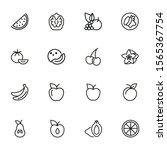 fruit line icon set. set of... | Shutterstock .eps vector #1565367754