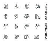 finance management line icon... | Shutterstock .eps vector #1565367817