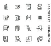 documents line icon set. set of ... | Shutterstock .eps vector #1565367934