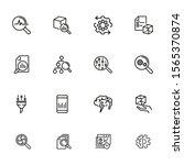 data analysis line icon set.... | Shutterstock .eps vector #1565370874