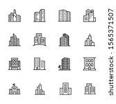 cityscape line icon set. set of ... | Shutterstock .eps vector #1565371507