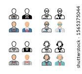 office employee avatar icon.... | Shutterstock .eps vector #1565375044