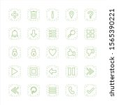 25 icon set of basic elements...