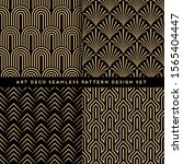 art deco style seamless pattern ... | Shutterstock .eps vector #1565404447
