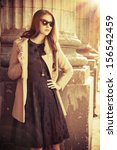 beautiful fashionable woman...   Shutterstock . vector #156542459
