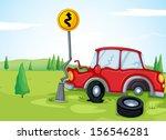 illustartion of a car bumping... | Shutterstock . vector #156546281