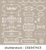 beautiful wedding design | Shutterstock .eps vector #156547415