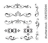 the set of decorative elements... | Shutterstock .eps vector #156552044