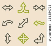 arrows web icons set 2  vintage ... | Shutterstock .eps vector #156554735