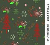 christmas pattern.christmas... | Shutterstock .eps vector #1565554621