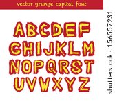 grunge type capital font.... | Shutterstock .eps vector #156557231