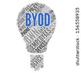 byod  bring your own device   ... | Shutterstock . vector #156558935