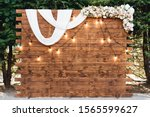 Rustic Wooden Wedding Arch Wit...