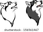 head dog breed siberian husky   Shutterstock .eps vector #156561467