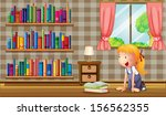 illustration of a girl inside... | Shutterstock . vector #156562355