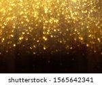golden glitter bokeh lighting...   Shutterstock . vector #1565642341