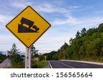 steep slope road traffic sign... | Shutterstock . vector #156565664