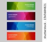 vector abstract design banner... | Shutterstock .eps vector #1565684821