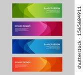 vector abstract design banner... | Shutterstock .eps vector #1565684911